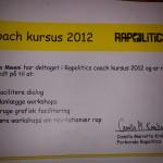 Rapcoach Kursus 2012.