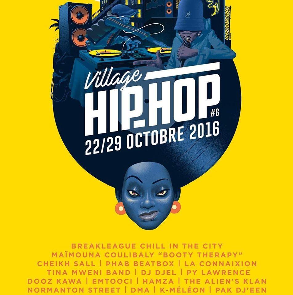 Village Hip hop 2016 - Artwork by Julien Loïs