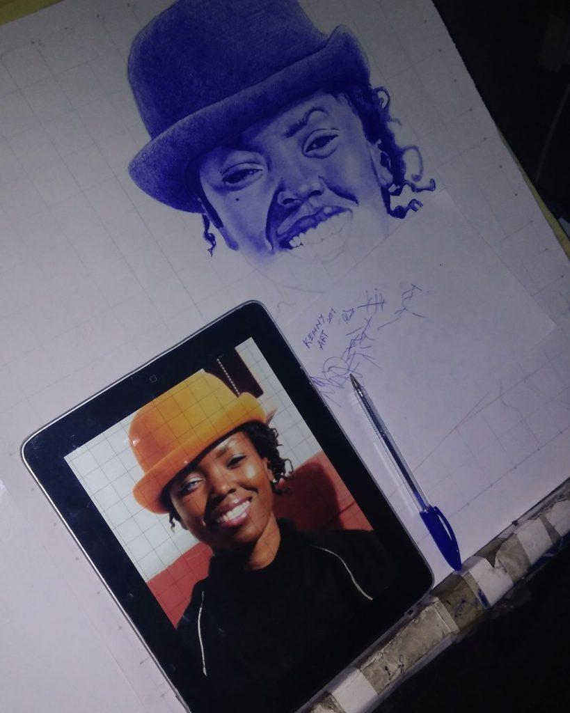 Original Photo: Aurélie Moreau. <br /> Portrait: Kennydioh Oluwadamilare.