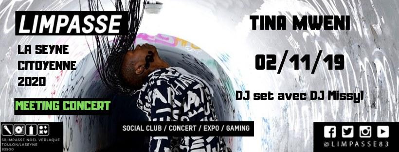 Tina Mweni Band – Live 02-10-19 at La Seyne - concert pour une ville verte.